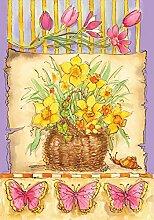 Toland Home Garden Daffodil Korb Garten Flagge