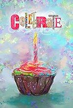 Toland Home Garden Feiern Cupcake Garten Flagge