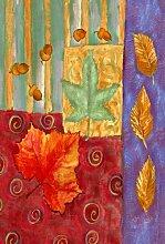 Toland Home Garden Gartenfahne mit Blättern, 31,8