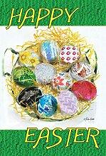 Toland Home Garden Happy Ostern Nest Garten Flagge