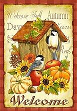 Toland Home Garden Herbst-Vögel, Orange