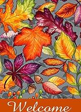 Toland Home Garden Herbst Willkommen Garten Flagge