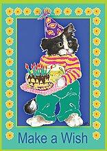 Toland Home Garden Kitty Wishes Garten Flagge