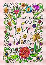 Toland Home Garden Let Love Bloom Deko-Fahne, 71,1