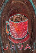Toland Home Garden Öl Pastell Kaffee Tasse Garten