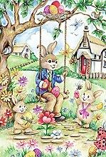 Toland Home Garden Ostern Bunny Swing Garten Flagge