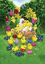 Toland Home Garden Ostern Küken Garten Flagge