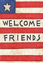 Toland Home Garden Patriotic Welcome Friends