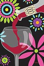 Toland Home Garden rot Wein Garten Flagge
