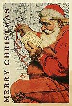 Toland Home Garden Santa bei der Karte Garten