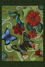 Toland Home Garden Schmetterlinge und Blumen