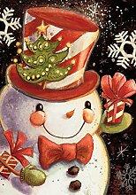 Toland Home Garden Schneeflocke Schneemann Garten