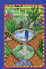 Toland Home Garden Vogeltränke und Bricks Garten