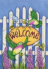 Toland Home Garden Welcome Kolibris Dekorative