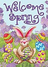 Toland Home Garden Willkommen Frühling, Bun