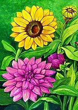 Toland Home Garten-Fahne mit Frühlingsblumen 71,1