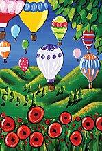Toland Home Garten-Fahne mit Mohnblumen-Motiv,