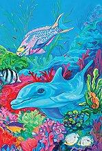 Toland Home Garten-Flagge mit Delphin und