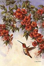 Toland Home Garten-Flagge mit Kolibri, 28 x 102