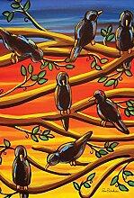 Toland Home Garten-Flagge mit schwarzen Vögeln,