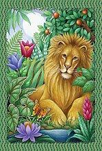 Toland Home Gartenfahne mit Löwe, 71,1 x 101,6