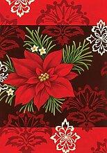 Toland Home Gartenflagge mit Weihnachtsstern,