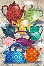 Toland Home Teekanne mit Ornamenten im Garten,
