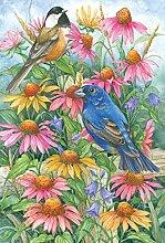 Toland Home Wimpelkette für Garten, Chickadee und