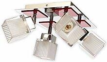 Tolle Deckenleuchte Rot Klar Transparent Bauhaus