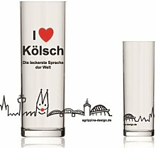Tolles Kölschglas ~ Kölsches Grundgesetz ~ Köln