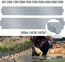 TolleTour Rasenkante Metall Beetumrandung Verzinkt