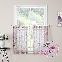 Tollpiz Kurzer, durchsichtiger Vorhang, rosa