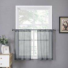 Tollpiz Transparente Vorhang, Leinenstruktur,