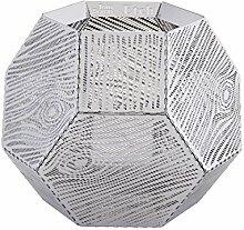Tom Dixon - Etch Windlicht - silber - Schlitzmuster