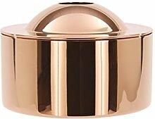 Tom Dixon Plätzchendose - Dose - Dekodose - BREW - Stahl mit Kupfer eloxiert Ø 16 cm Höhe 10,7 cm