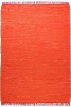 Tom Tailor Fleckerlteppich orange Cotton Colors, Größe:140 x 200 cm
