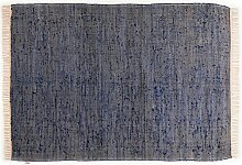 Tom Tailor Läufer handgewebt blau Größe 60x180 cm