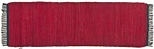 Tom Tailor Läufer red Cotton Colors UNI, Größe:60 x 120 cm