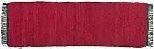Tom Tailor Läufer red Cotton Colors UNI, Größe:60x180cm