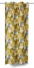 TOM TAILOR Unisex Vorhang mit Palmenprint, gelb,
