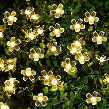 Tomasa Solar String Light 50 LED Kirsche