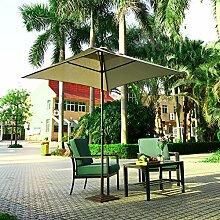 Tomasa Sonnenschirme Ampelschirm Diagonale 275cm Aluminium-Sonnenschirm Marktschirm Gartenschirm Wasserdicht UV-Schutz mit Ständer(DE LAGER) (braun)