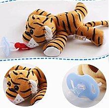 Tomasa Stofftier Spielzeug- Baby Schnuller mit