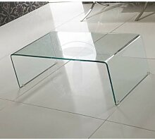 Tomasucci Cristal Beistelltisch Glas geschwungen