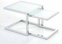 Tomasucci Double Beistelltisch, Glas, Transparen