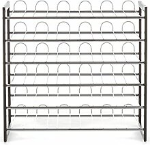 Tomasucci Wine-Rack Weinregal, Metall, Grau
