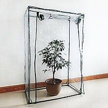 Tomaten-Gewächshaus, PE Pflanze, Gemüse Zelt mit hochrollbarem Reißverschluss Tür (Rahmen nicht im Lieferumfang enthalten)
