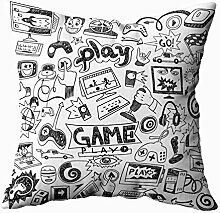 TOMKEY Couch-Kissenbezug, versteckter