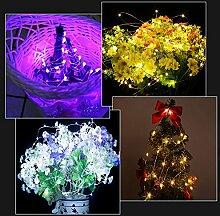 Tomshine Lichterkette, Batterie 50 LED Lichterketten RGB mit Fernbedienung, Wasserdicht lichterketten für Außen Zimmer Hochzeit Party, 5m x 2 Pack