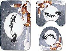 TOMSSL Cartoon Nachthimmel Weihnachtsmann Rentiere